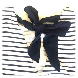 H&M Tops - H&M BLUE AND WHITE STRIPED SAILOR BLOUSE